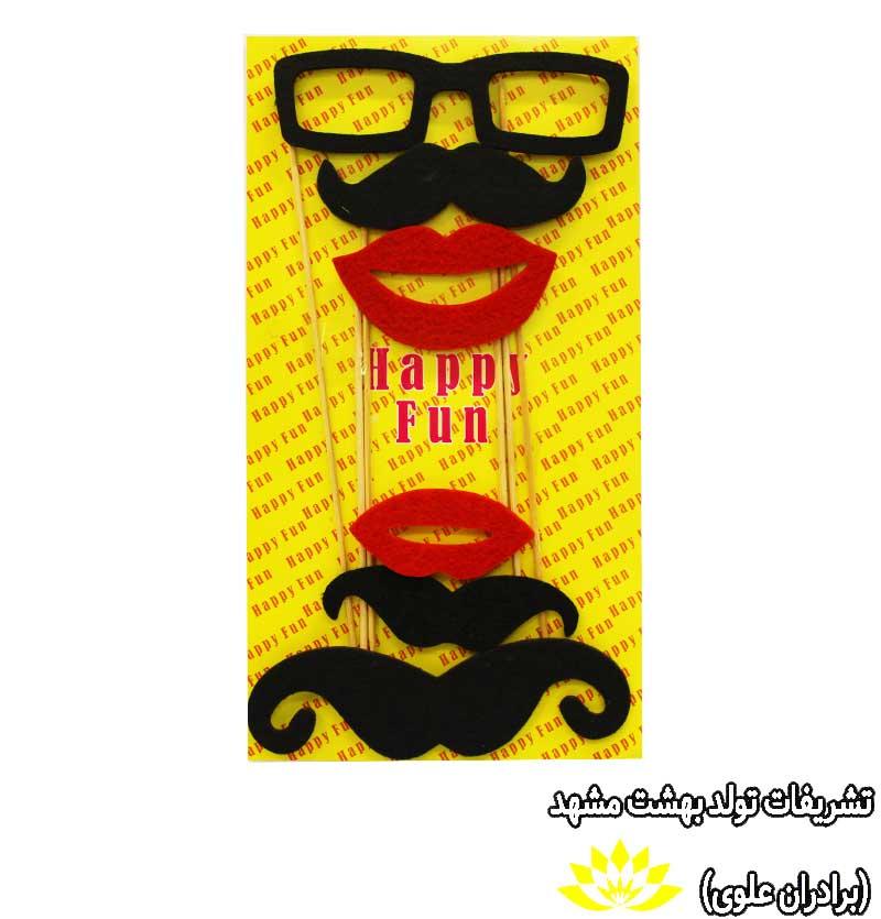تاپر سیبیل عینک لب