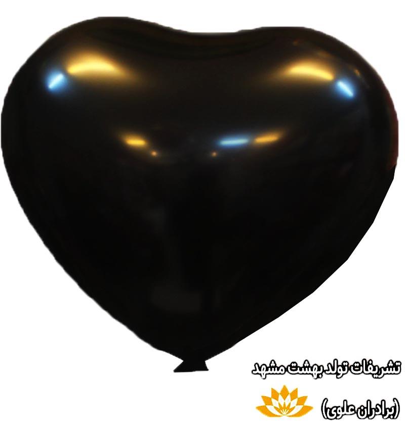 بادکنک قلب مشکی