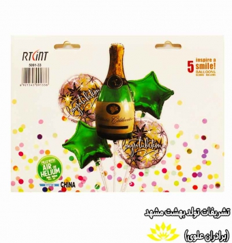 بادکنک 5 تیکه شامپاین